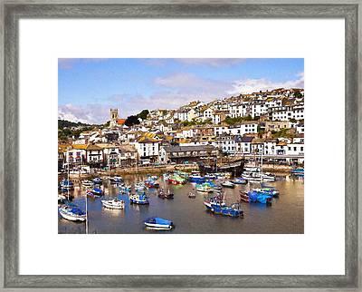 Brixham Harbour Devon Framed Print