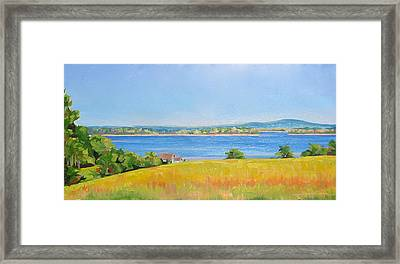 Broad Cove From Bremen Framed Print