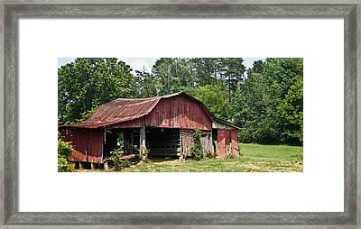 Broad Roofed Barn 1 Framed Print by Douglas Barnett