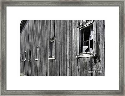 Broadside Of A Barn Framed Print by David Bearden