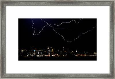 Broadway Lightshow Framed Print by David Hahn