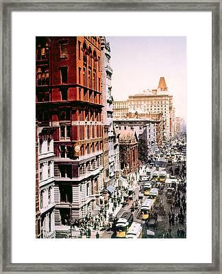 Broadway, Manhattan, New York City Framed Print by Everett