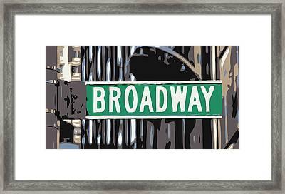 Broadway Sign Color 6 Framed Print by Scott Kelley