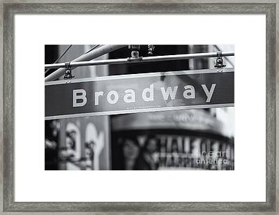 Broadway Street Sign II Framed Print by Clarence Holmes