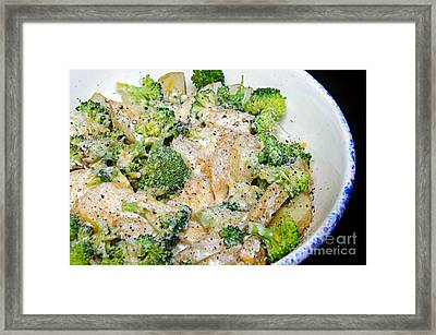 Broccoli Cheese Potatoes Framed Print by Andee Design