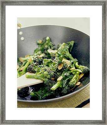 Broccoli Stir Fry Framed Print by David Munns