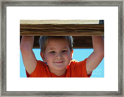 Brodie Framed Print by Monica Poole