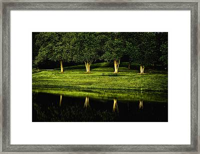 Broemmelsiek Park Green Framed Print by Bill Tiepelman