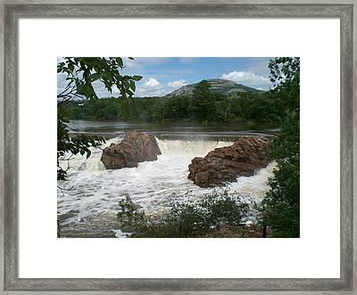 Broken Dam Framed Print by Jessica Jandayan