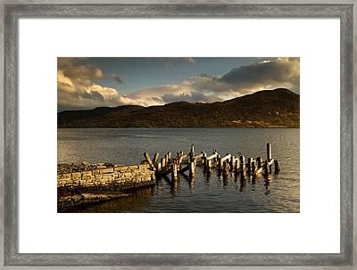 Broken Dock, Loch Sunart, Scotland Framed Print by John Short