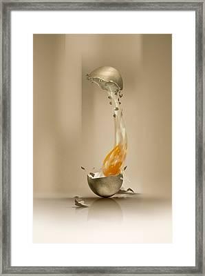 Broken Egg Framed Print by Ciprian Dudas