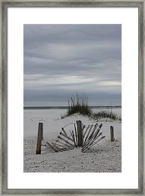Broken Fences Framed Print