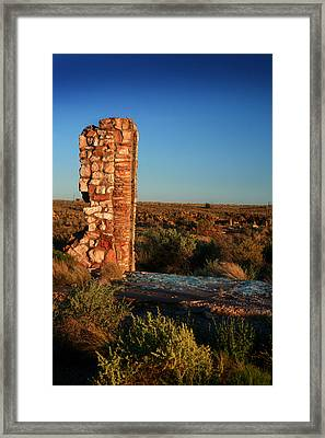 Framed Print featuring the photograph Broken Glass At Two Guns by Lon Casler Bixby