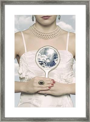 Broken Handmirror Framed Print by Joana Kruse