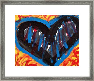 Broken Heart And Power Of Love Collide Framed Print by Bethany Stanko