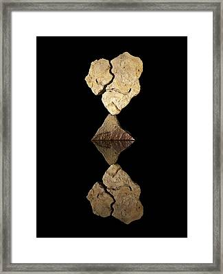 Broken Heart Framed Print by Arlyn Petrie