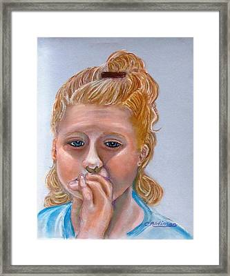 Broken Hearted Framed Print by Carol Allen Anfinsen