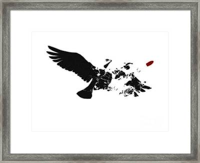 Broken Peace Framed Print by Pixel Chimp