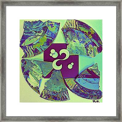 Broken Plate 3 Framed Print