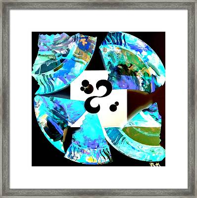 Broken Plate Inverted Framed Print