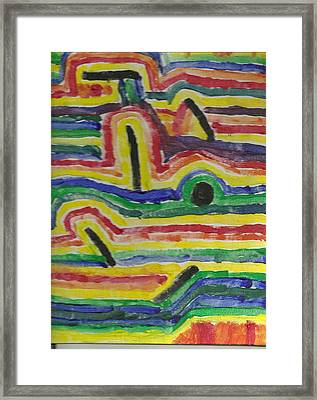 Broken Rainbow Framed Print by David Rubin