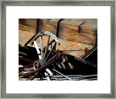 Broken Wagon Wheel Framed Print