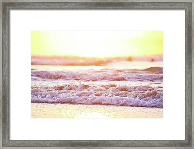 Broken Waves Framed Print by Sasha Bell