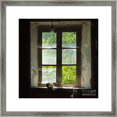 Broken Window. Framed Print