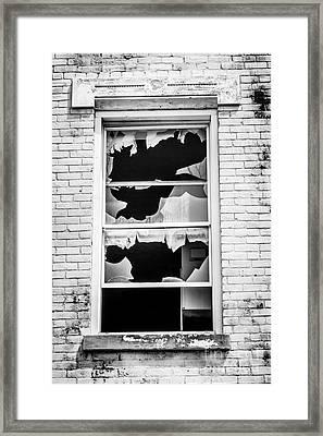 Broken Window Glencoe-auburn Cincinnati Ohio Framed Print by Paul Velgos
