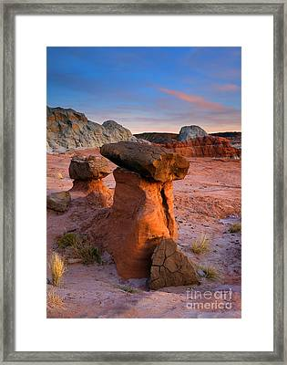 Brokentop Hoodoo Sunset Framed Print by Mike  Dawson