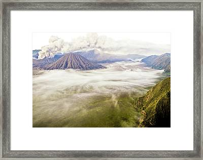 Bromo Volcano Crater Framed Print by Photography by Daniel Frauchiger, Switzerland