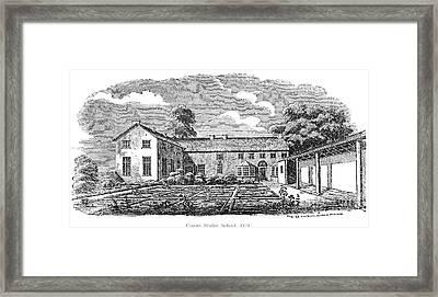 Bront�: Boarding School Framed Print by Granger