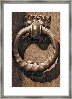 Bronze Knocker Framed Print