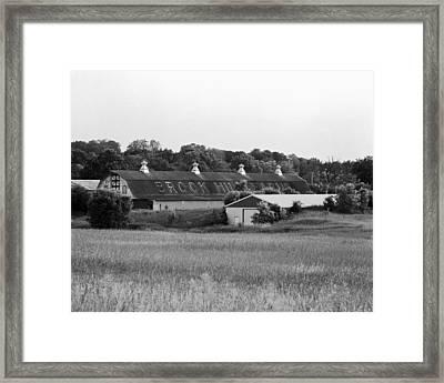 Brook Hill Dairy Farm Framed Print by Jan W Faul