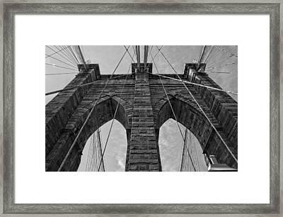 Brooklyn Bridge Bw Framed Print