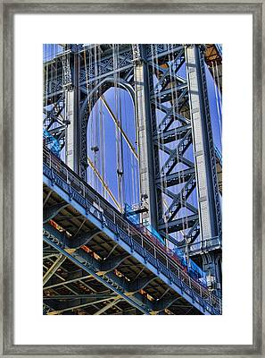 Manhattan Bridge Close-up Framed Print by David Smith