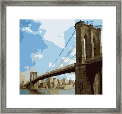 Brooklyn Bridge Color 16 Framed Print by Scott Kelley