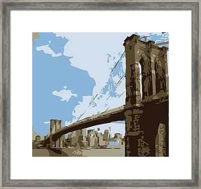 Brooklyn Bridge Color 6 Framed Print by Scott Kelley