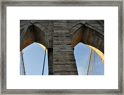 Framed Print featuring the photograph Brooklyn Bridge by Diane Lent