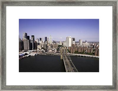 Brooklyn Bridge Framed Print by Paul Plaine