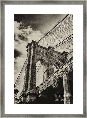 Framed Print featuring the photograph Brooklyn Bridge by Vicki DeVico