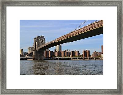 Brooklyn Bridge1 Framed Print by Zawhaus Photography