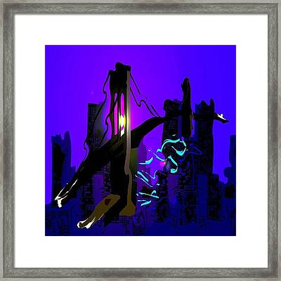 Brooklyn Bridge #bridge #bridges Framed Print