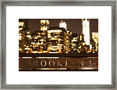 Brooklyn Bubbly Framed Print by Andrew Paranavitana