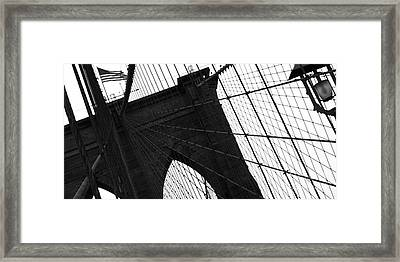 Brooklyn Lines Framed Print by Gilles Rousel