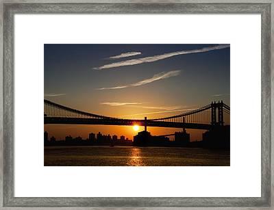Brooklyn Sunrise Framed Print