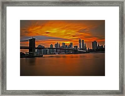 Brooklyn's Twilight V2 Framed Print by Michael Murphy