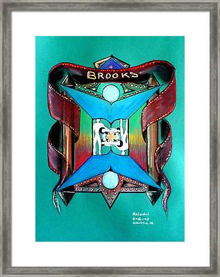 Brooks Family Crest Framed Print