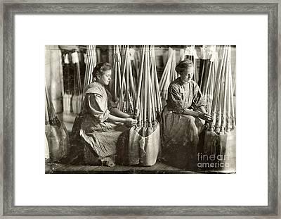 Broom Manufacture, 1908 Framed Print by Granger