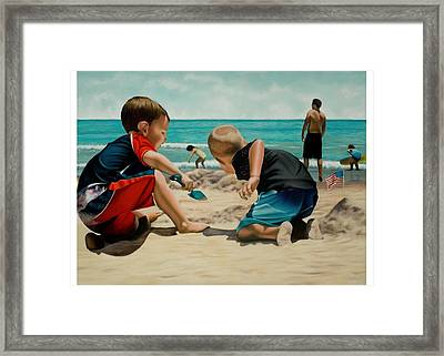 Brothers Framed Print by Douglas Fincham